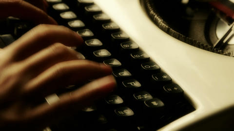 Hands typing on a typewriter Stock Video Footage