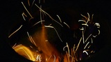 Beautiful brilliant flame,fly line,particle Footage