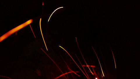 Beautiful brilliant flame,fly line,particle Stock Video Footage