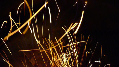 Beautiful brilliant flame,fly... Stock Video Footage