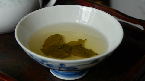Tea shaking in teacup.china Stock Video Footage