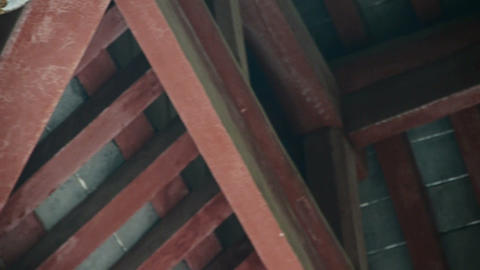Chinese ancient building,Roof tiles Stock Video Footage