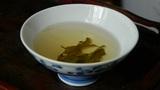 A bowl of shaking tea.china,japan,water,steaming Footage