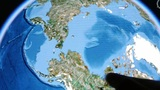 touch globe gps map on ipad,drag to arctic&antarctic Footage