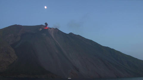 Stromboli eruption 01 Stock Video Footage