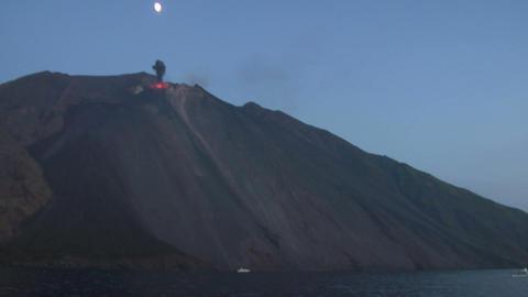 Stromboli eruption 01 Stock Video Footage