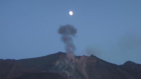 Stromboli eruption 03 Stock Video Footage