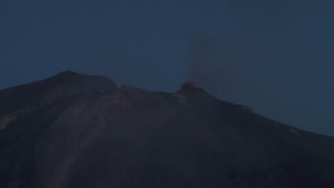 Stromboli eruption 05 Stock Video Footage