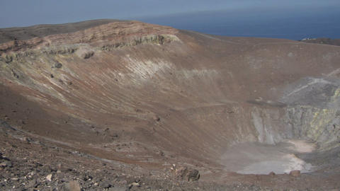 Vulcano crater 03 Stock Video Footage