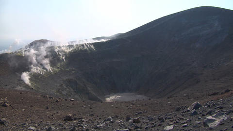 Vulcano crater 05 Stock Video Footage