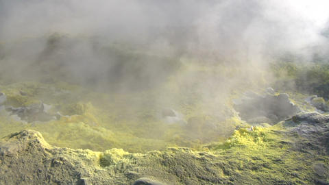 Vulcano fumarole 10 Stock Video Footage