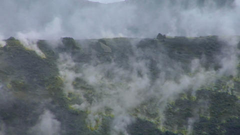 Vulcano fumarole 12 Stock Video Footage
