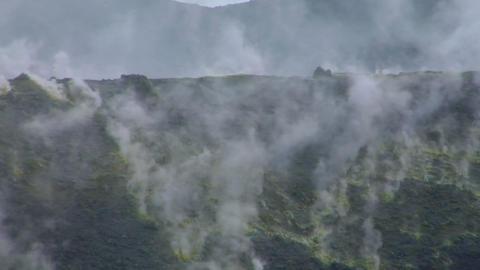 Vulcano fumarole 12 Stock Video Footage