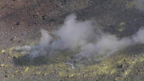 Vulcano fumarole 14 Stock Video Footage