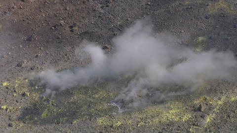 Vulcano fumarole 14 Stock Video Footage