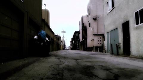 Backstreet Alley 04 stylized Stock Video Footage