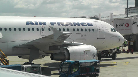 PariFrance Charles De Gaulle International Airport Stock Video Footage