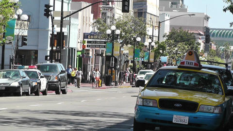 San Diego Downtown 02 Stock Video Footage
