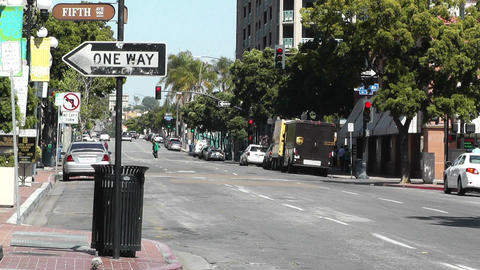 San Diego Downtown 04 Stock Video Footage