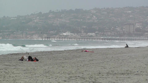 San Diego Mission Bay Beach 02 Stock Video Footage