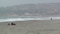 San Diego Mission Bay Beach 02 Stock Video Footage
