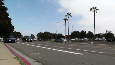 San Diego Mission Bay Drive 04 Stock Video Footage