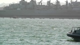San Diego US Naval Base Security Guard Boat 01 Footage