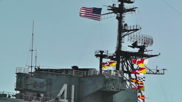 San Diego US Naval Base USS Midway Carrier 01 Stock Video Footage