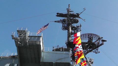 San Diego US Naval Base USS Midway Carrier 05 Stock Video Footage
