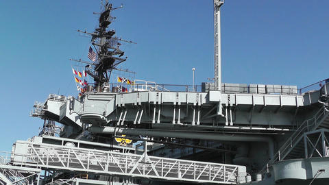 San Diego US Naval Base USS Midway Carrier 07 Stock Video Footage