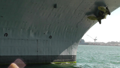 San Diego US Naval Base USS Midway Carrier 11 front Stock Video Footage