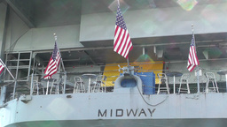 San Diego US Naval Base USS Midway Carrier 15 Stock Video Footage