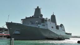 San Diego US Naval Base USS San Diego LPD 22 battleship 01 Footage