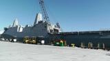 San Diego US Naval Base USS San Diego LPD22 battleship 07 Footage