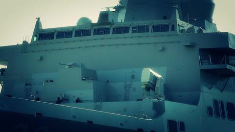 San Diego US Naval Base USS San Diego LPD22 battle Stock Video Footage