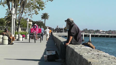 San Diego Wharf 01 Stock Video Footage