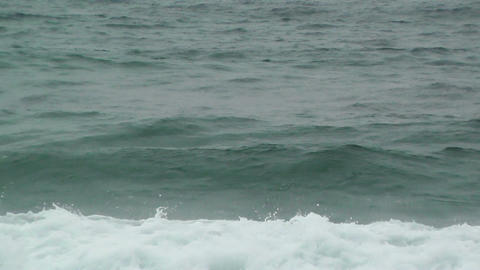 Sea Waves and Foam 60fps native slowmotion Stock Video Footage