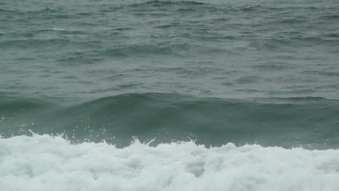Sea Waves and Foam 60fps native slowmotion Footage
