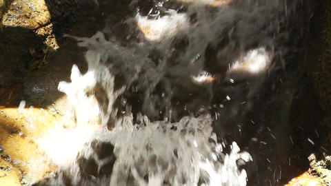 Tropical Waterfall 04 60fps native slowmotion Stock Video Footage