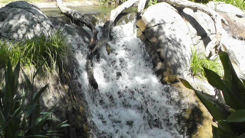 Tropical Waterfall 06 60fps native slowmotion Stock Video Footage