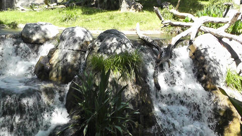 Tropical Waterfall 08 60fps native slowmotion Stock Video Footage