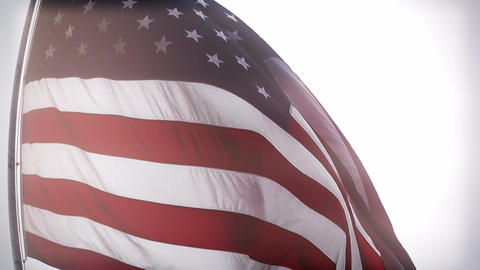 USA Flag fisheye closeup stylized Stock Video Footage