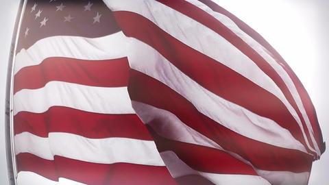 USA Flag fisheye closeup stylized Stock Video Footage