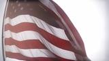 USA Flag fisheye closeup stylized Footage