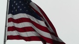 USA flag in strong wind 60 fps native slowmotion 04 Footage
