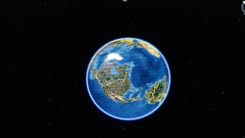 touch globe map on ipad,enlarged to NewYork city of... Stock Video Footage
