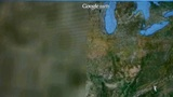 touch globe map on ipad,from Washington to Korea Stock Video Footage