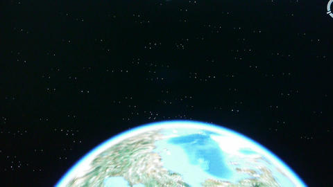 touch globe map on ipad,planet in universe Animation