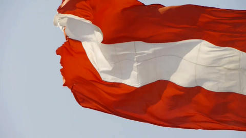 Latvia flag flutters in wind Stock Video Footage