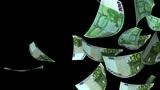 Falling Euro (Loop + Matte) stock footage